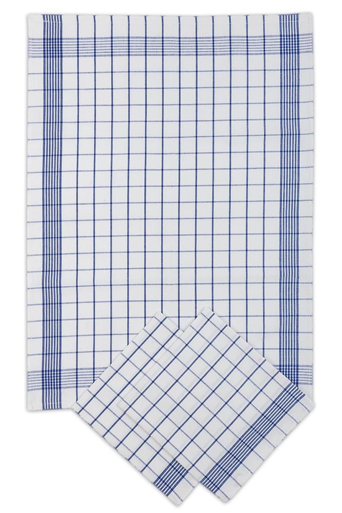 e66b587ae09b Kuchyňské utěrky modro-bílé kostky - tradiční vzor